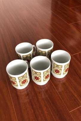 Pocillos mugs  5 Nuevos sin uso.