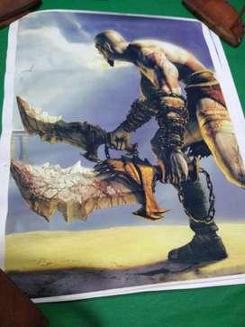 Poster Katos God Of War de 50 X 60 Cm