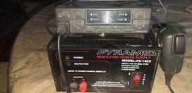 Vendo  estación de radio  con fuente de poder