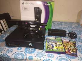 Vendo Xbox360 Original Con Kinect, Joystick Y Dos Juegos. Como nueva, en perfecto estado