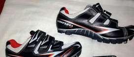 Zapatillas Ciclismo Rojas Venzo