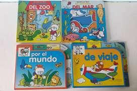 Art 330 Lote de 4 Libros Infantiles Descubre Con Michi Los Animales del Mar de Zoo Vamos Con Michi por el Mundo y de Via