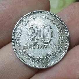 Argentina 20 Centavos 1942 NIQUEL