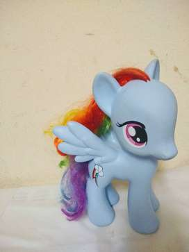 Mi pequeño Pony original importado 20c. mueve cabeza celeste rainbow importado