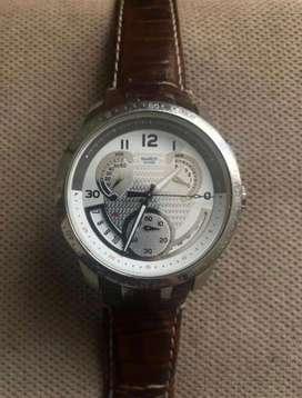 Reloj Swatch Swiss Hombre Cuero Buen Estado
