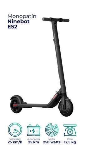 Monopatín eléctrico scooter NINEBOT ES2 NUEVO