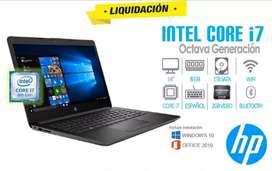 Laptop HP i7 DE 8va Generación