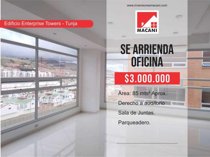 Se Arrienda Oficina Edificio Enterprise Tower - Tunja 0