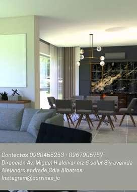 Venta de Cortinas y persianas para dormitorio, sala, oficinas