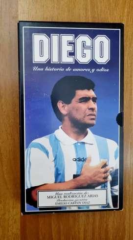 Vhs Diego Maradona. Sin uso
