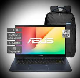 Portátil Asus Intel Core I3 Ram 4gb+32gb 512 Ssd y OBSEQUIOS