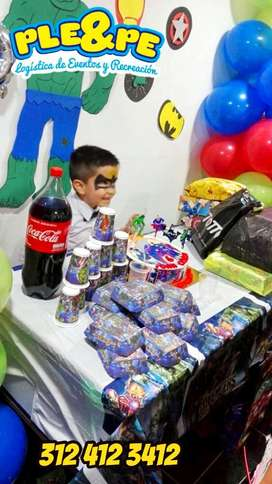 Fiestas infantiles, recreadores, decoracion payasos magia títeres