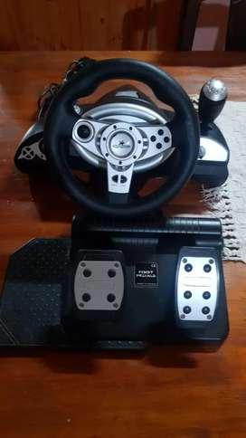Vendo volante con pedalera para PC, PS2, PS3