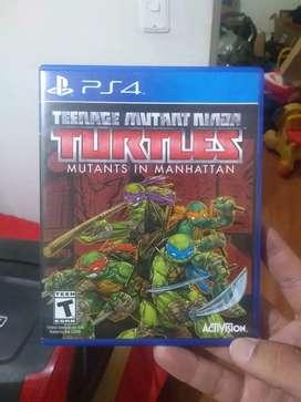 Juego de PS4 de las tortugas ninja