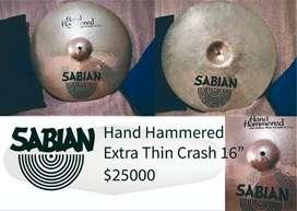 Crash Sabian Hand Hammered Extra Thin Crash 16