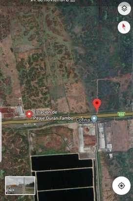 Venta de terreno Km. 11 Vía Durán Tambo uso comercial y residencial