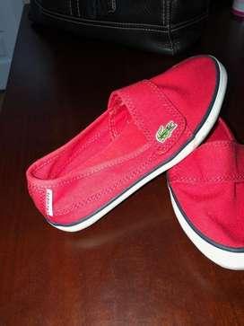 Zapatos de niña marca Lacoste talla 11