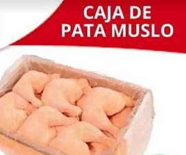 Vendo caja de Pata muslo x 20kg  y bolsa  de 5 kg de  suprema c/u