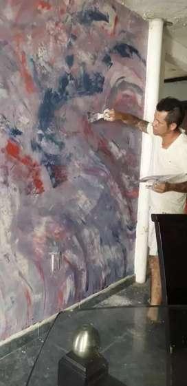 Decoración de interiores y pintura de casas