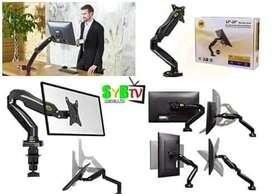 """Soporte para monitor de escritorio flexigas brazo ergonómico de 16"""" a 30"""""""