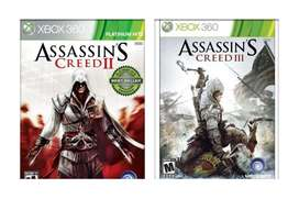 Assassin's Creed II 2 Y III 3 Para Xbox 360 Xbox One Original Físico