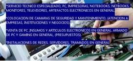 Servicio Tecnico pc, articulos electronicos en general, armado de pc, camaras de seguridad, venta de insumos electronico