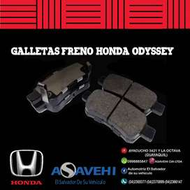 GALLETAS DE FRENO HONDA  ORIGINAL ODYSSEY  2005- 2010
