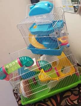Jaula para Hamster Fija y de Viaje + Bola