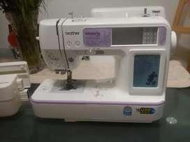 Maquina de coser y bordadora seminueva Brother Innovis 950D