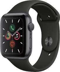 Apple Watch Series 5 (gps, 44mm, Negro, Silver,)  color dorado