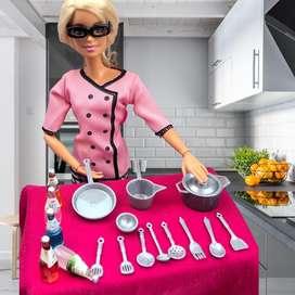 Set de cocinera muñeca