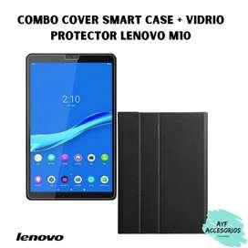 Combo: Smart Case Cover + Vidrio protector Lenovo M10