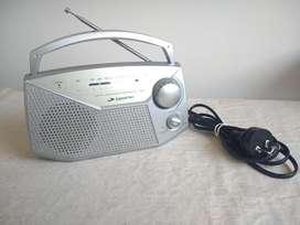 Radio Portátil Plateada Daihatsu Dual D-rp35 Am/fm Funciona!