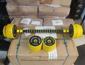 Kit de mancuernas 20 kilos con extensión antideslizante