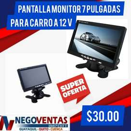 MONITOR DE 7 PULGADAS PARA ENTRADA DE 2 CAMARAS DE 12V