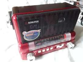 Radio am fm recargable BT   USB SD estilo clásico nuevo Sonivox