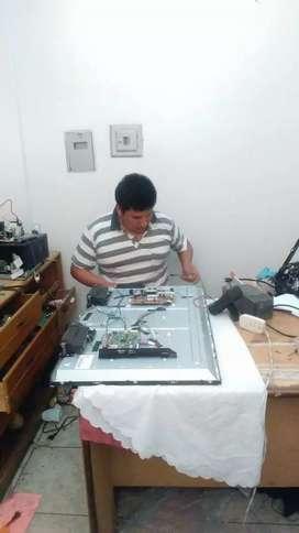 tecnico electronico reparacion de tv cambio de led reparacion laptop cpu .de equipos de audio alquoler de grupo electro