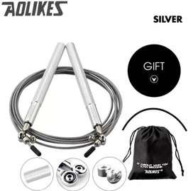 Cuerda de saltar 100% metal doble rodamiento 4 colores