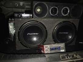 Audio car con bateria gel y stereo boss nuevo