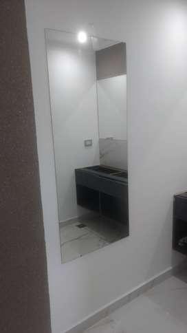 espejos cuerpo entero o a medida. colocacion de vidrios y mamparas de baño a domicilio
