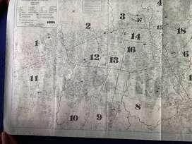 Póster Mapa de Notarías en Bogotá de 1991