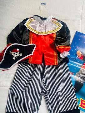 Vendo disfraz pirata bebe