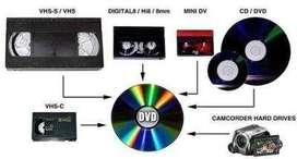 Conversion Transfer VHS Beta, Betamax Video8 MiniDV a USB o DVD REGALOS