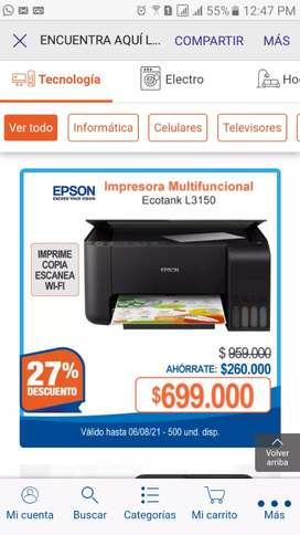 Vendo impresora L3150