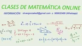 Clases de Matemáticas y fisica online