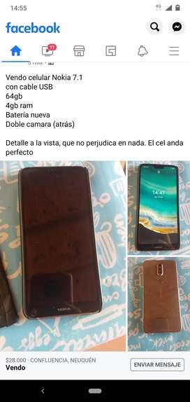 Vendo Nokia 7.1 64gb 4 g de ram