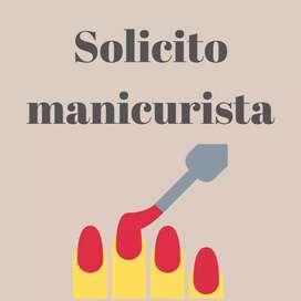 SOLICITO MANICURISTA