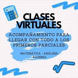 Clases Particulares Online Matemática Álgebra Analisis!!!