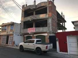 Venta de Edificio por terminar de 4 pisos