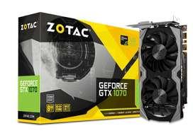 Tarjeta Gráfica ZOTAC GeForce GTX1070 Mini 8GB GDDR5 2 Ventiladores (poco uso)